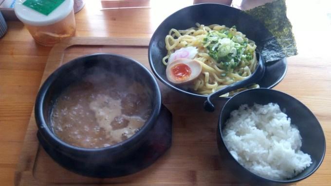 Tsukemen of Menya Takedora with rice