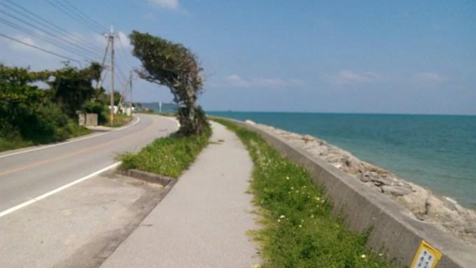 Driving scenery of Henza-jima Island 3