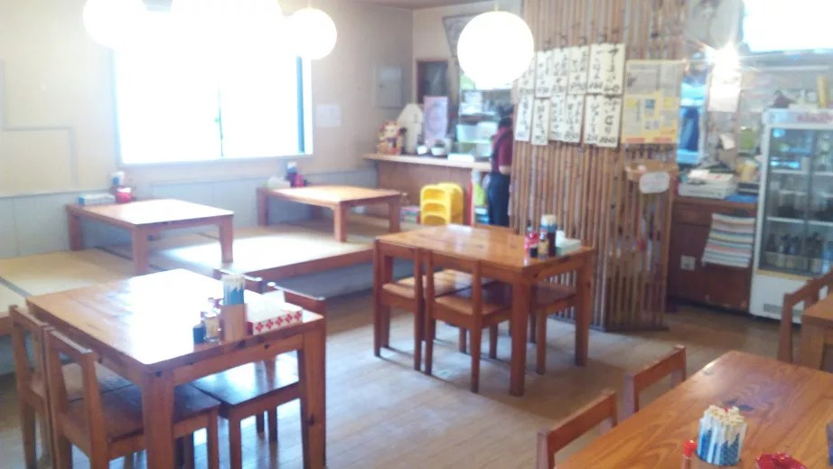 Inside shop in Den soba