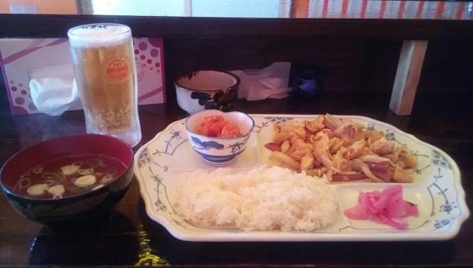 Fu-Chanpuru meal and beer