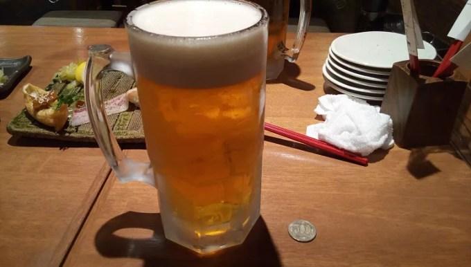 生ビールの特大ジョッキ
