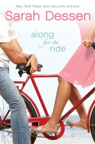 Along For The Ride by Sarah Dessen Book Cover, bike, pink dress, male, female, headless, red bike