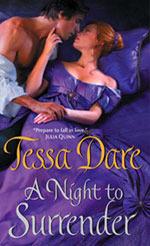 A Night To Surrender, Tessa Dare, Book Cover