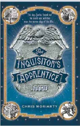 The Inquisitors Apprentice, Book Cover, Chris Moriarty, badge, silver, eagle,