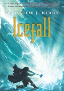 Icefall, Matthew J Kirby, Book Cover, Blue, Ice, Hammer