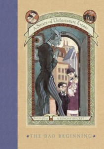 The Bad Beginning, Lemony Snicket, Book Cover, A Series of Unfortunate Events