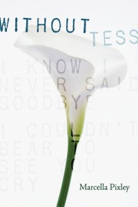 Without Tess, Marcella Pixley, Book Cover, White lily,