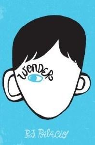 Wonder RJ Palacio Book Cover, Blue, One Eye