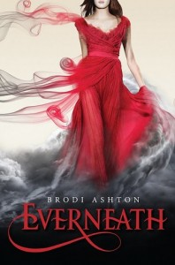 Everneath Brodi Ashton Book Cover, red dress