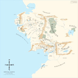Middle Earth Map Kris Kowal