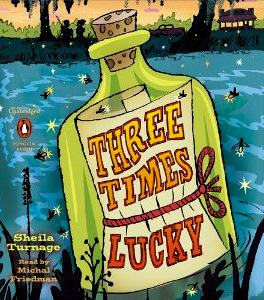 Three Times Lucky Sheila Turnage Audiobook Cover