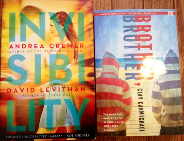 Invisibility by Andrea Cremer and David Levithan; Brother, Brother by Clay Carmichael | Good Books And Good Wine