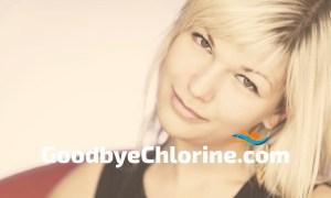 swimming blonde hair