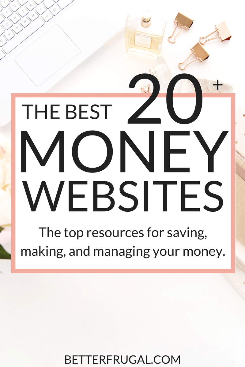 Check out this crazy awesome list of the top 20+ websites you can use to make more, save more, and better manage your money! save money | make money online | work from home | money tips | money tools | money recommendations