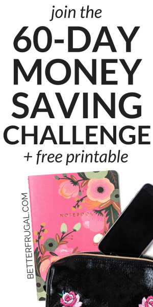 Save more money and develop better spending habits with this fun and free 60-day money saving challenge! free printable | save money | make money | money challenge