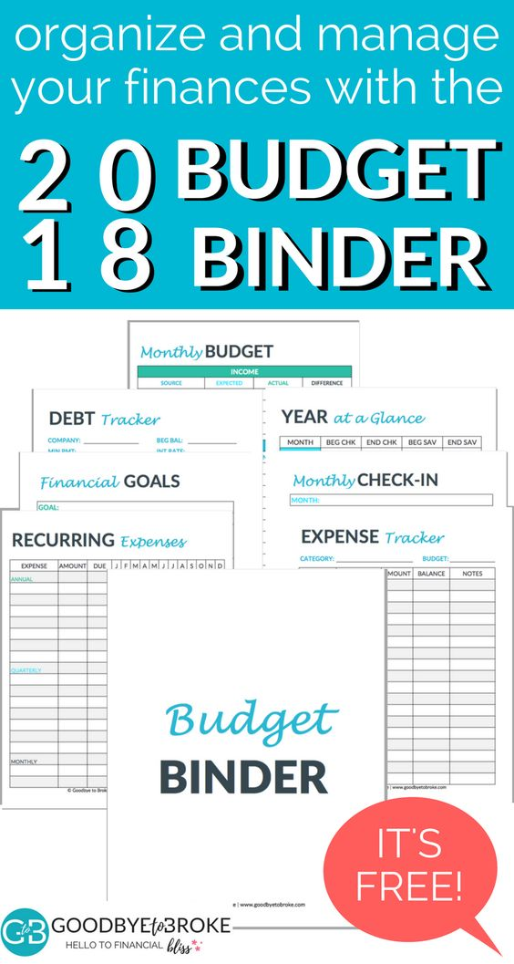 Free Budget Binder Manage Your Money With Ease Goodbye To Broke