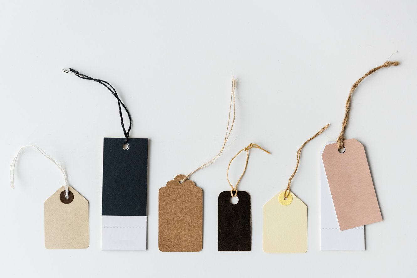assorted colorful shopping tags