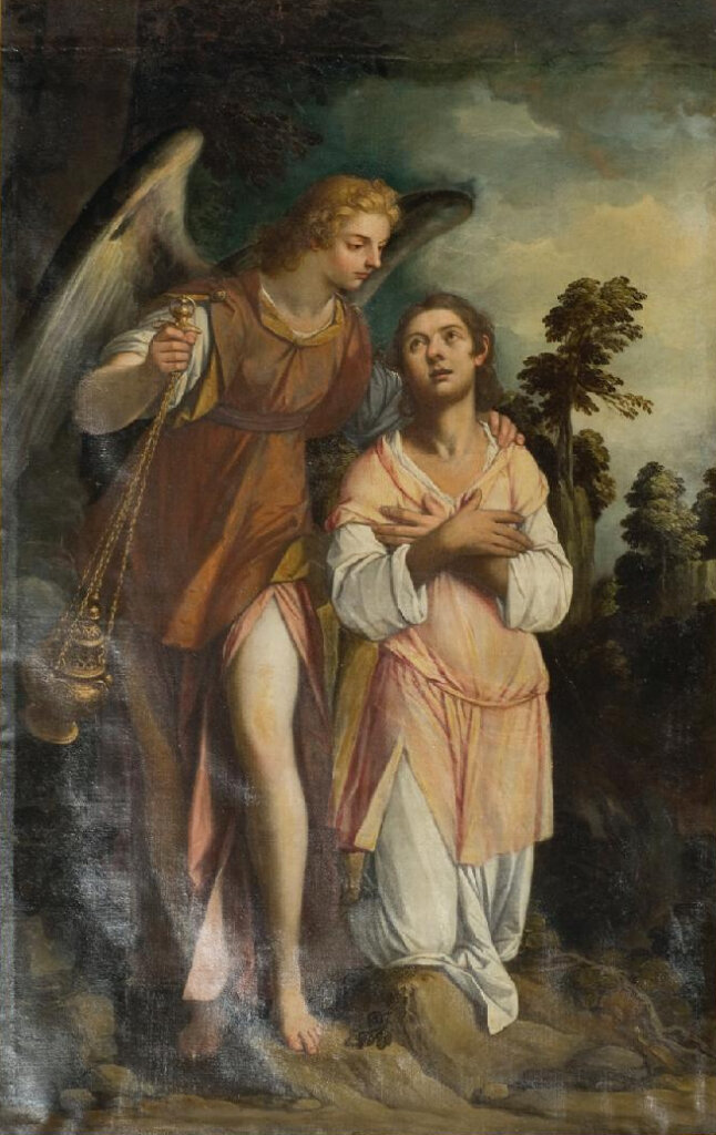 St. Frances of Rome and her Guardian Angel by Pietro Damini