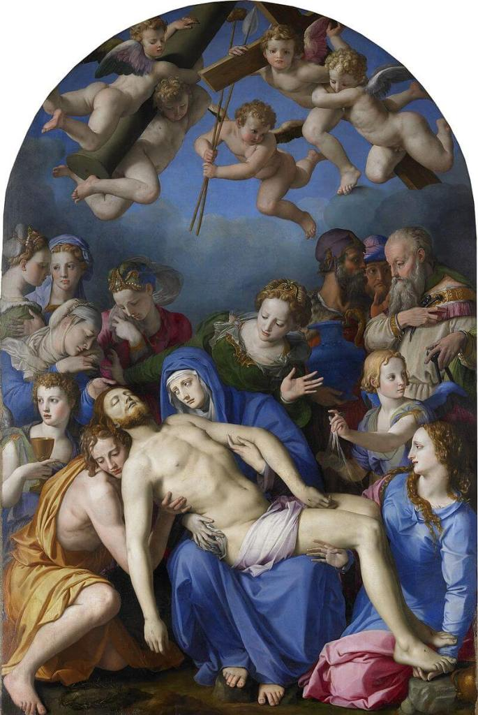 Lamentation over the dead Christ by Bronzino