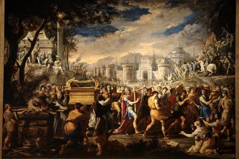 David bearing the ark of testament into Jerusalem by Domenico Gargiulo