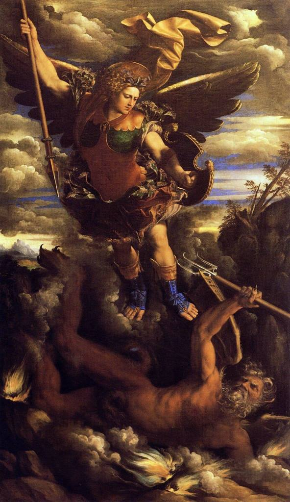 The Triumphant St. Michael by Dosso Dossi