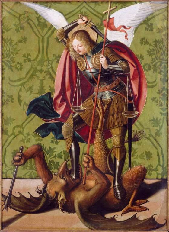 St. Michael Killing the Dragon by Josse Lieferinxe