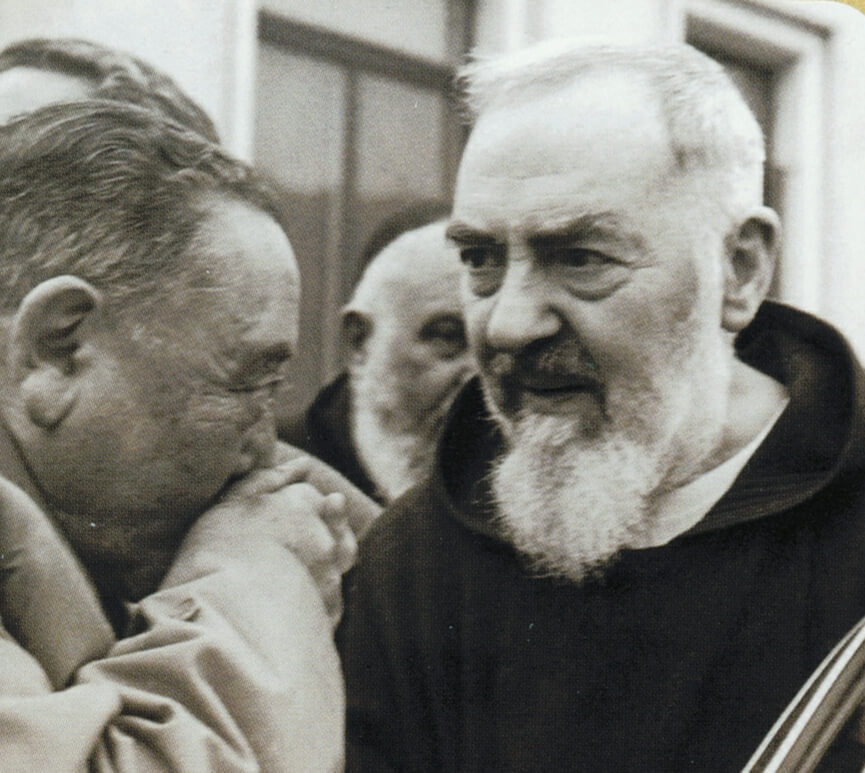 Padre Pio and a visitor