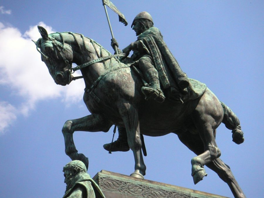 Statue of St. Wenceslaus by Josef Václav Myslbek