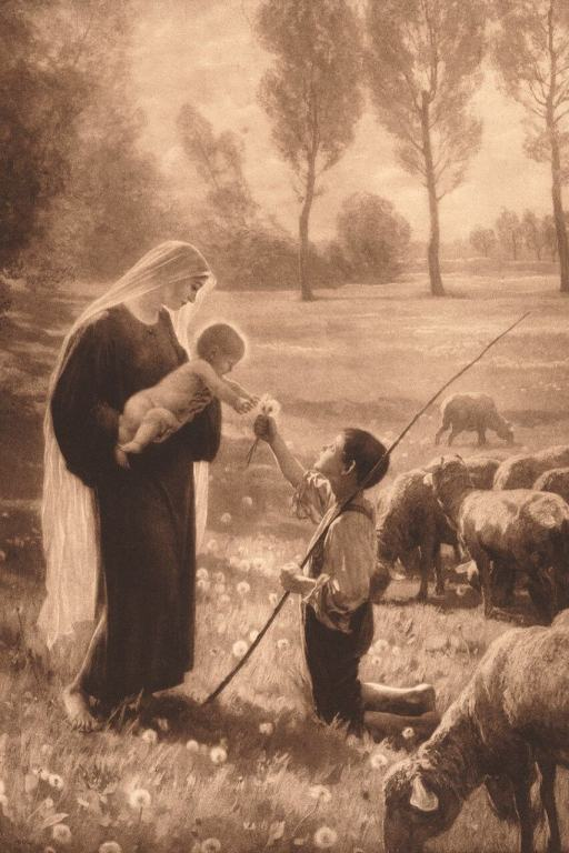 Mary Meets a Shepherd Boy by Henry Wolf