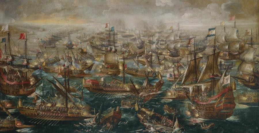 The Battle of Lepanto by Andries van Eertvelt (1640)