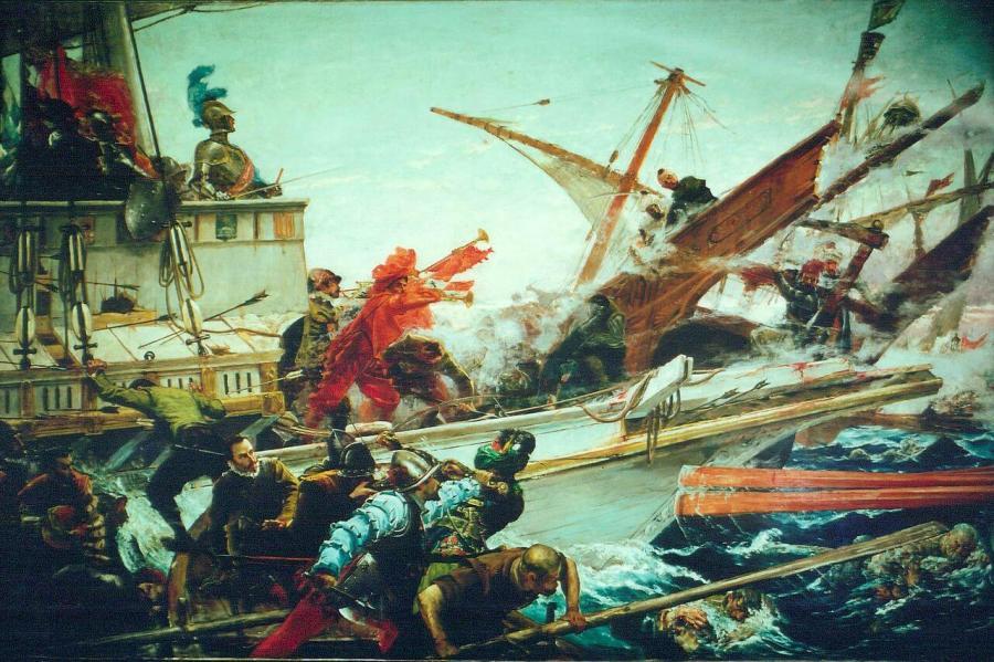 The Battle of Lepanto by Juan Luna