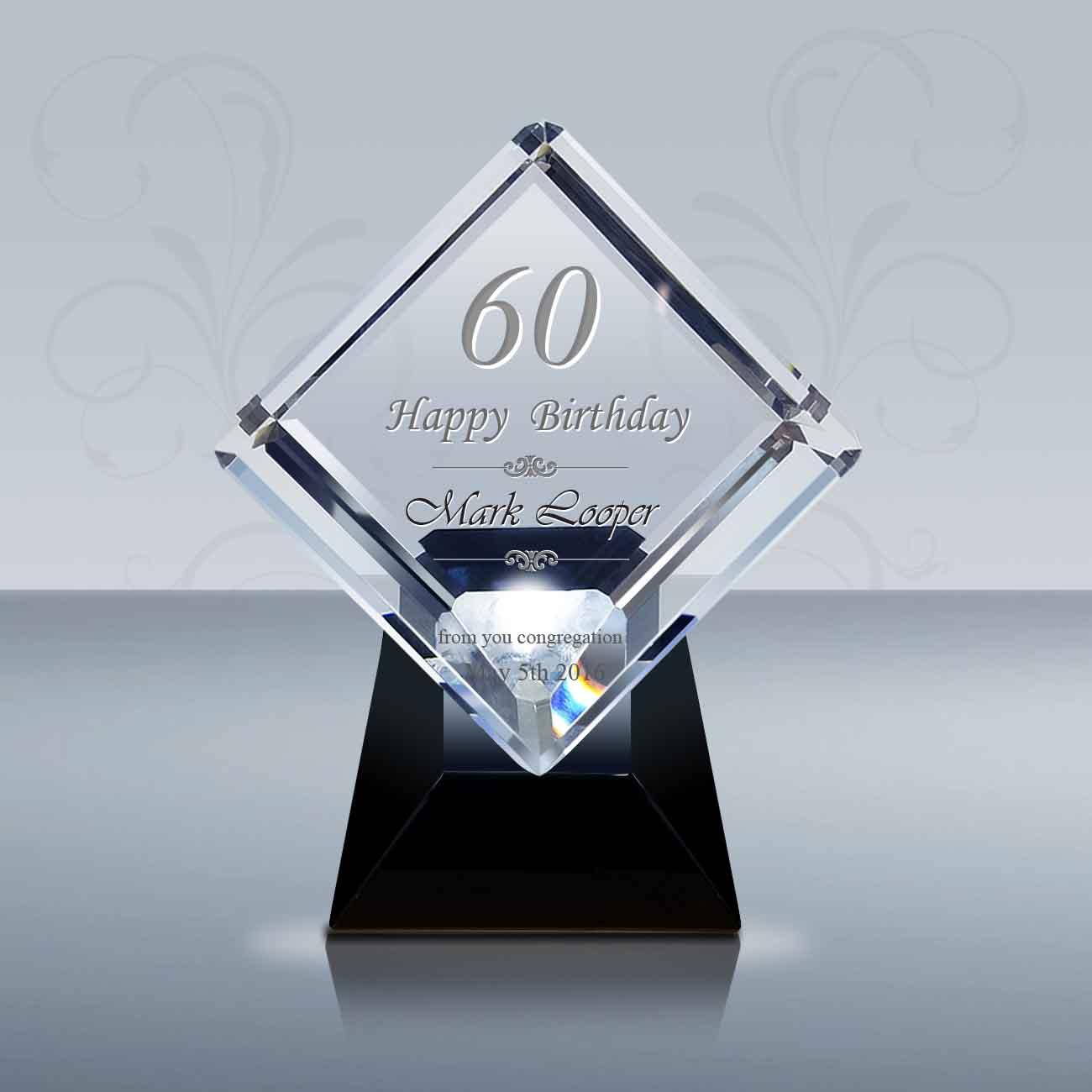 Pastor Birthday Gift 3d Crystal Diamond Award 028 Goodcount Awards Custom Engraved Crystal Awards Plaques