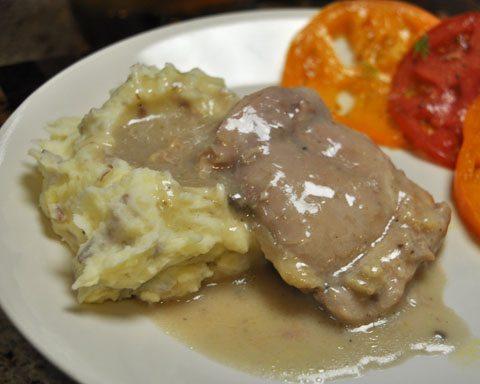 Sherry Mushroom Crock Pot Chicken