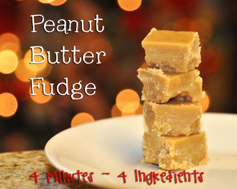 4 Minute Peanut Butter Fudge