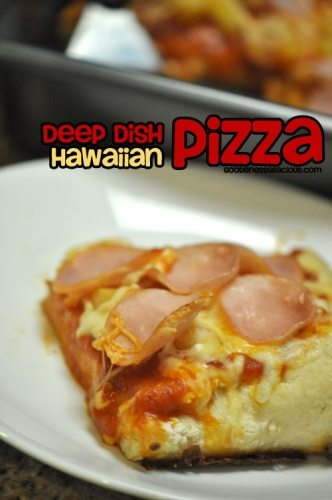 Deep Dish Hawaiian Pizza