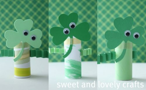 Sweet & Lovely Crafts Shamrock Men