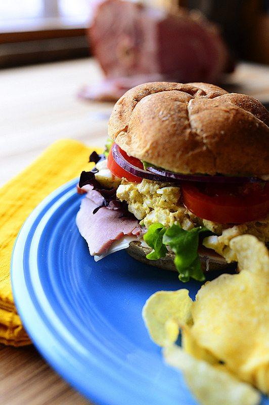 Easter Leftover Sandwich