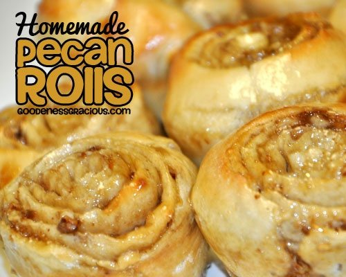 Pecan Rolls from Scratch