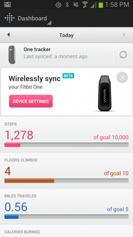 Fitbit One Samsung Galaxy
