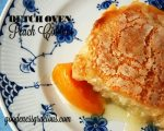 Dutch Oven Peach Cobbler