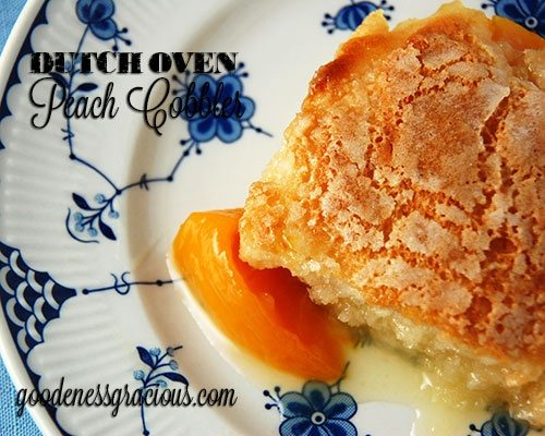 Dutch Oven Peach Cobbler Recipe