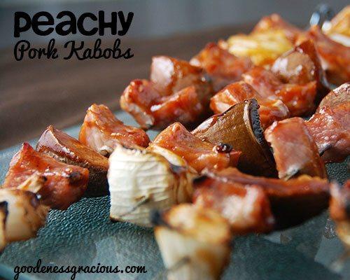 Peachy Pork Kabobs