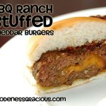 BBQ Ranch Stuffed Cheddar Burgers