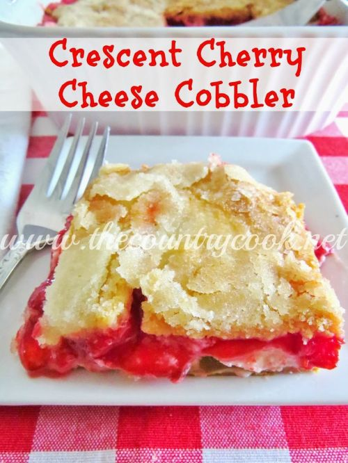 Crescent Cherry Cheese Cobbler