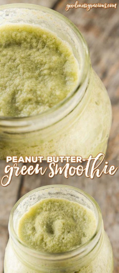 Are you looking for a green smoothie that is full of nutrients but still tastes really great? This Peanut Butter Green Smoothie tastes more like a peanut butter shake than a spinach based smoothie!