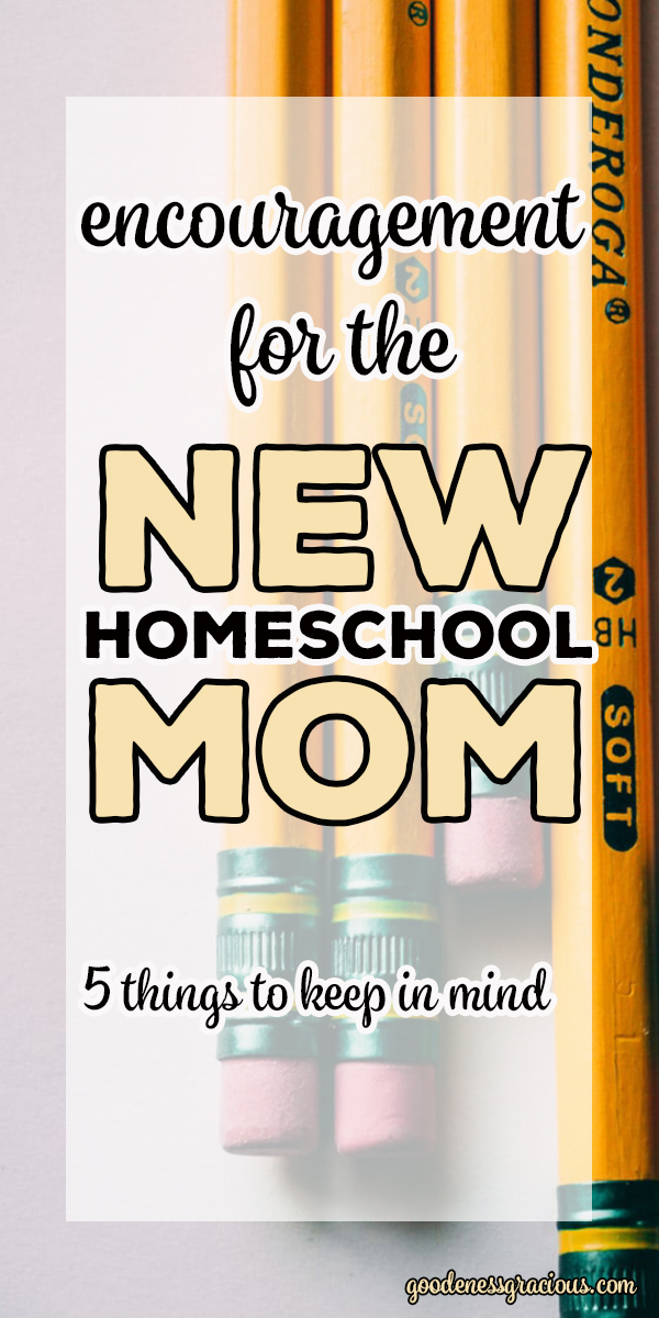 5 Encouraging Thoughts to Keep in Mind for the New Homeschool Mom. via @crisgoode