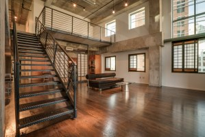 Image of loft apartment in downtown Dallas.