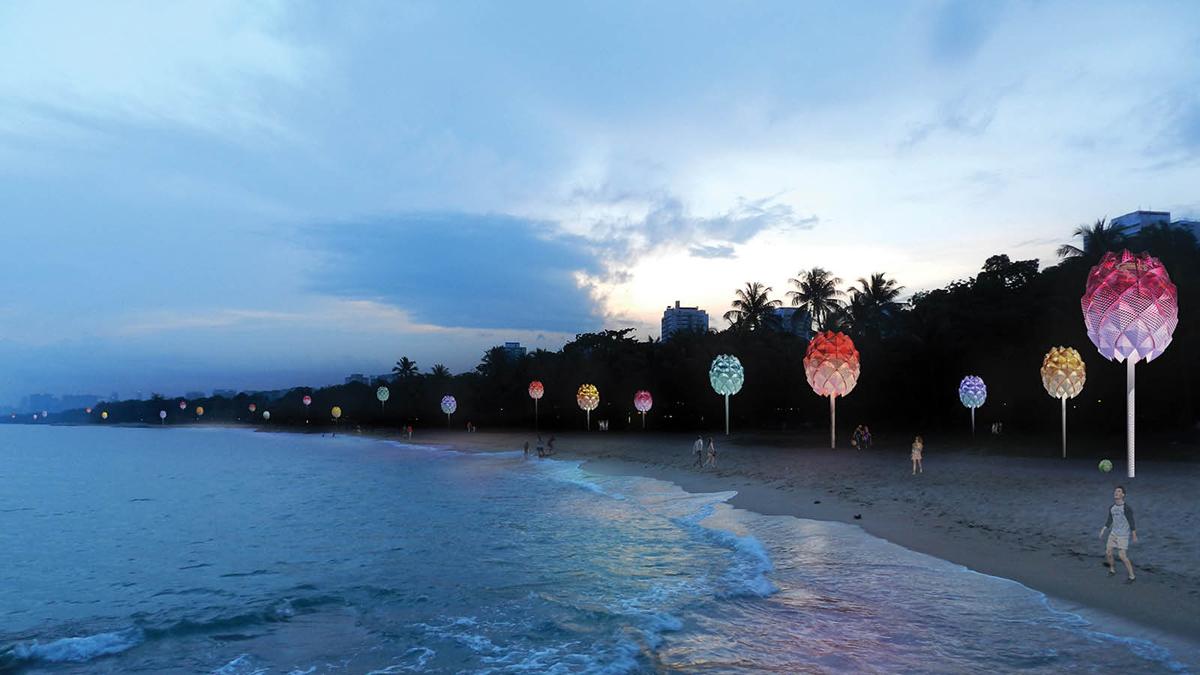 Solar-Powered Beach Huts