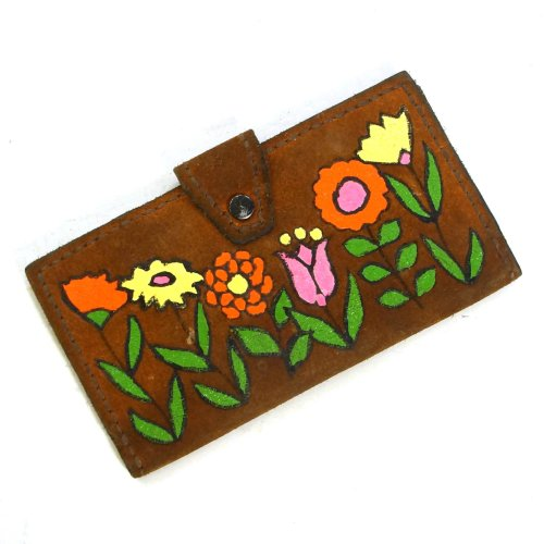 Vintage 60s Painted Leather Wallet