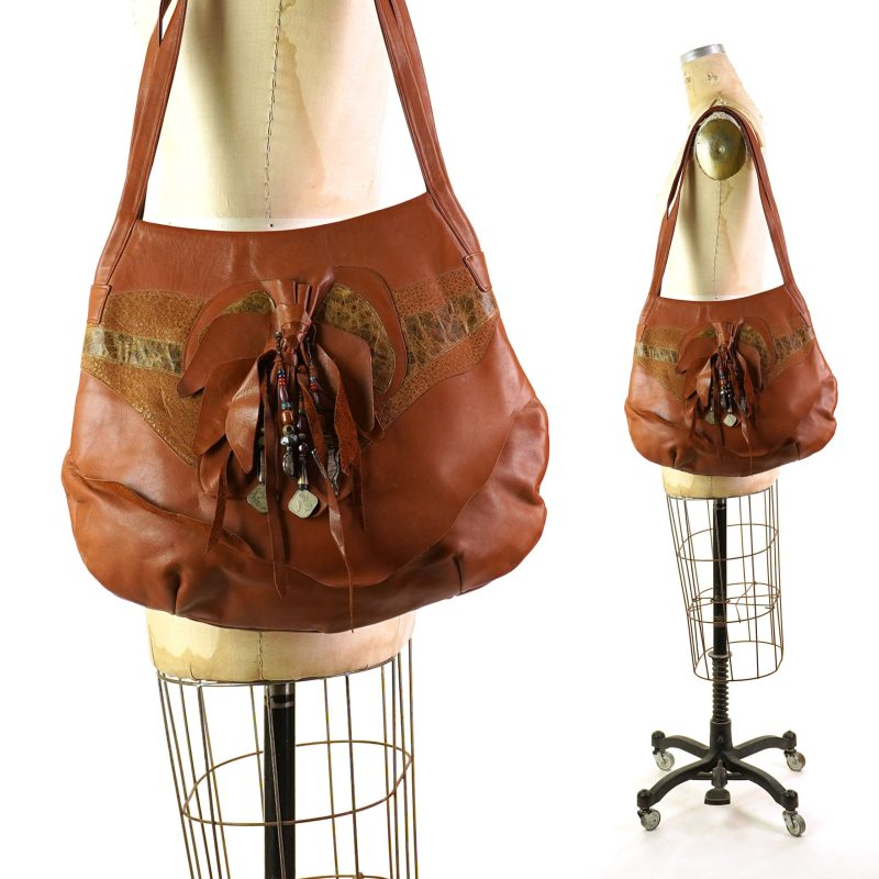 80s Leather Boho Bag by Pat Smiley